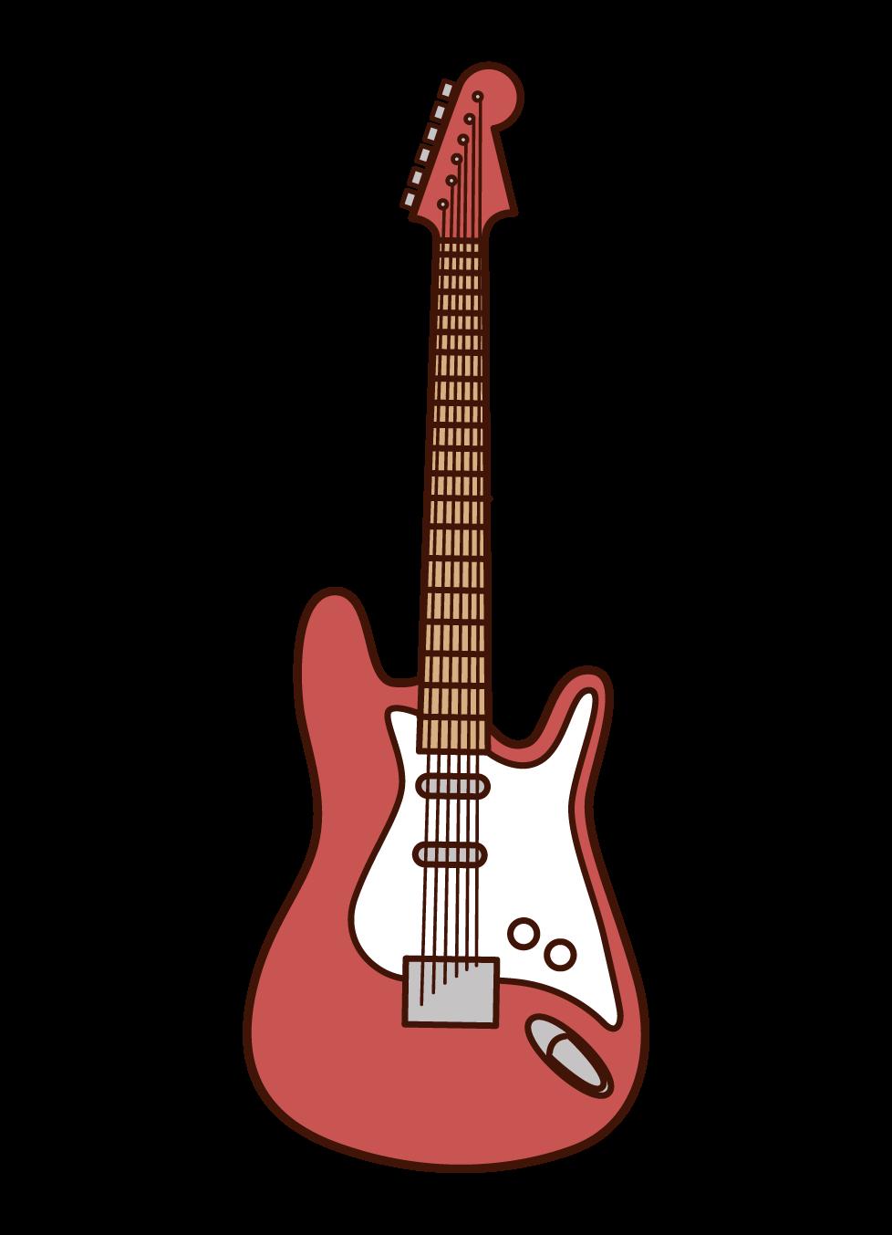 エレキギターのイラスト