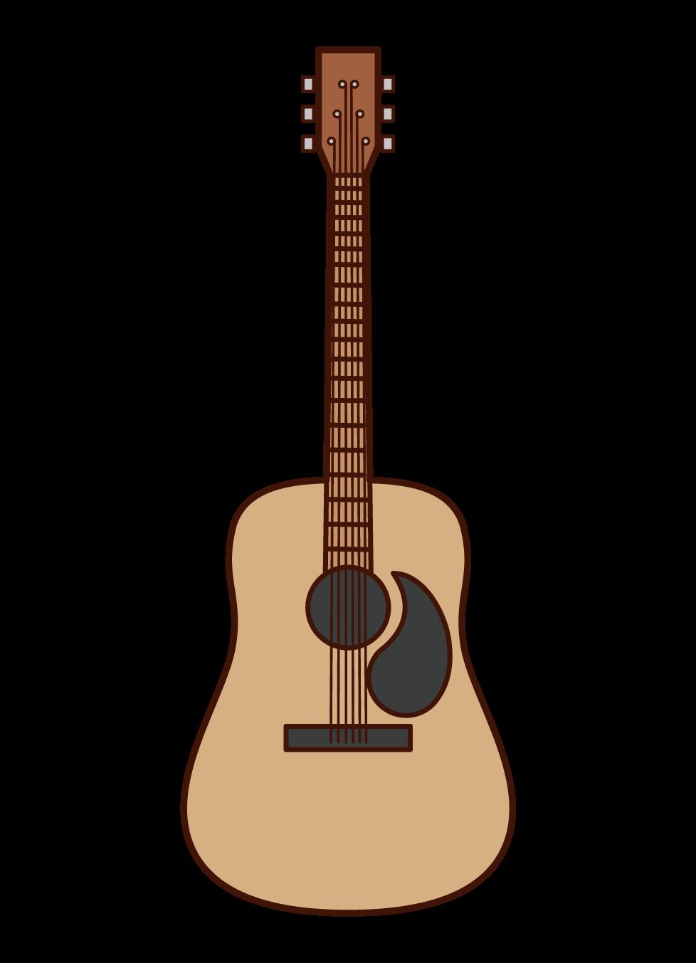 어쿠스틱 기타 일러스트레이션