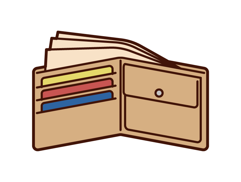 Illustration of the contents of the wallet
