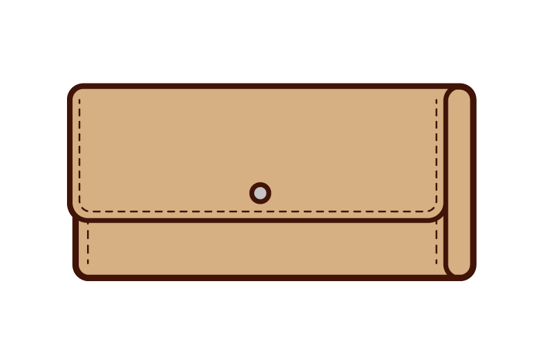 Illustration of a long wallet
