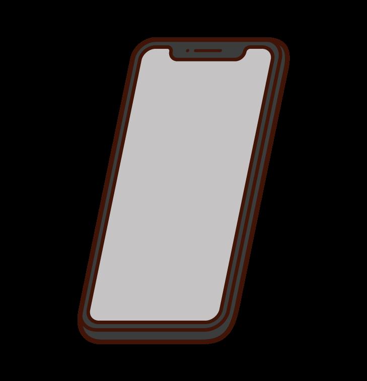 スマートフォンのイラスト