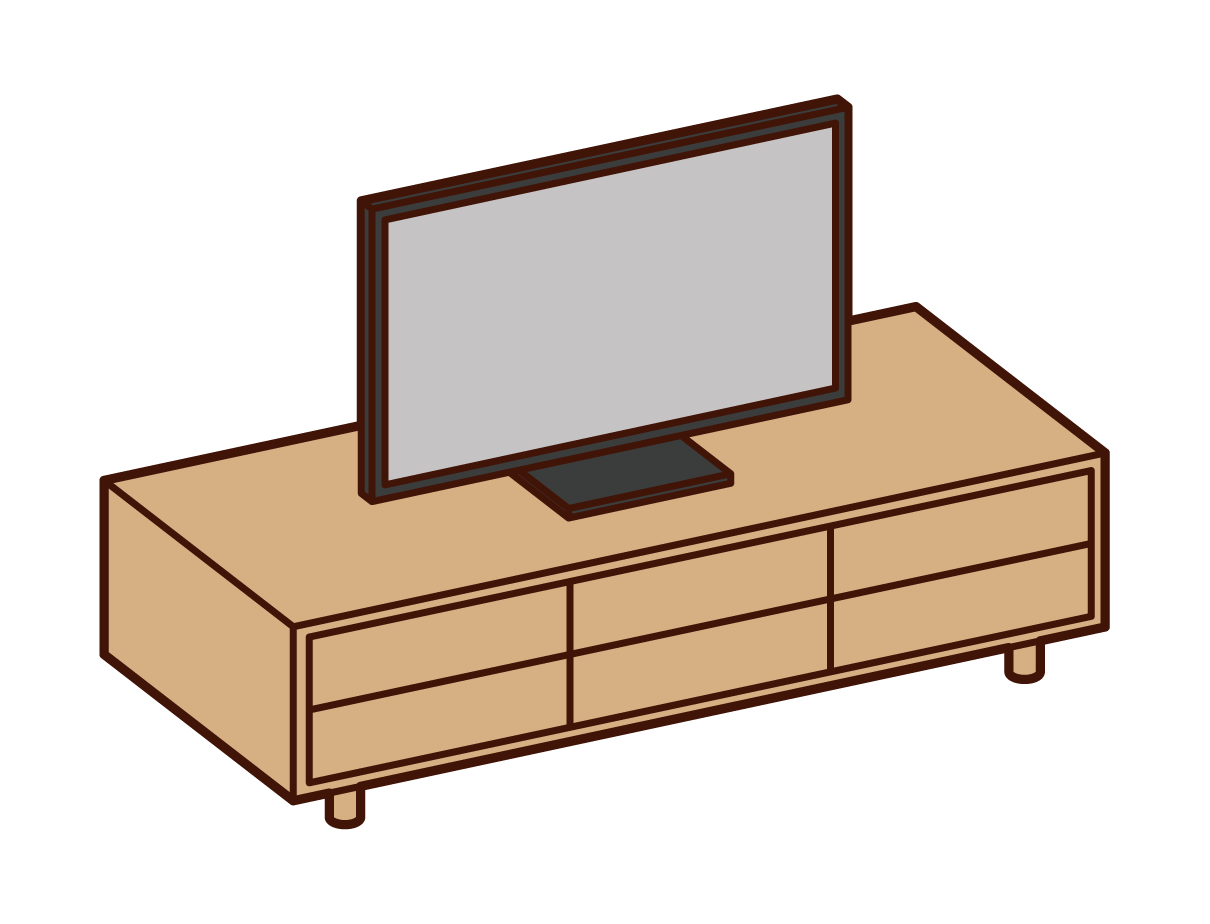 TV and TV Board Illustrations