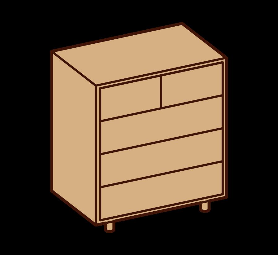 Illustration of chest chest