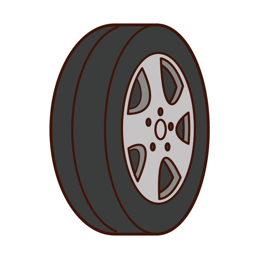 Automobile Tire Illustrations