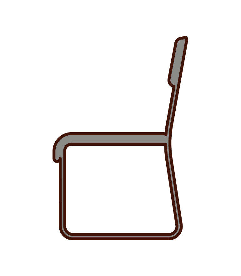 Illustration of an office chair from the side