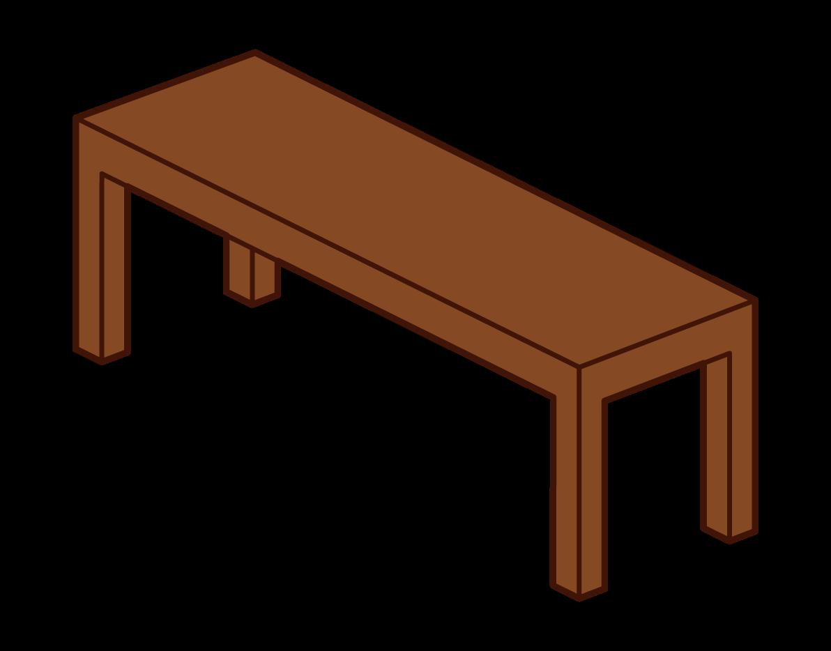 Wooden Bench Illustrations