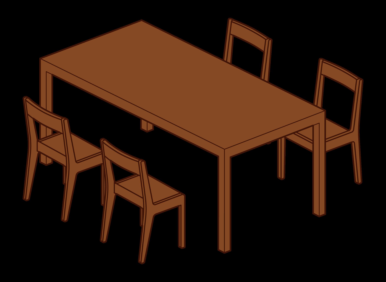 ダイニングテーブルとチェアのイラスト