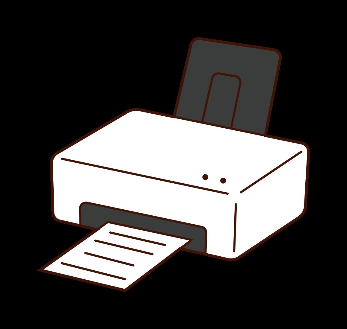 Illustration of a home printer