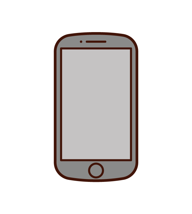 Rounded smartphone illustrations