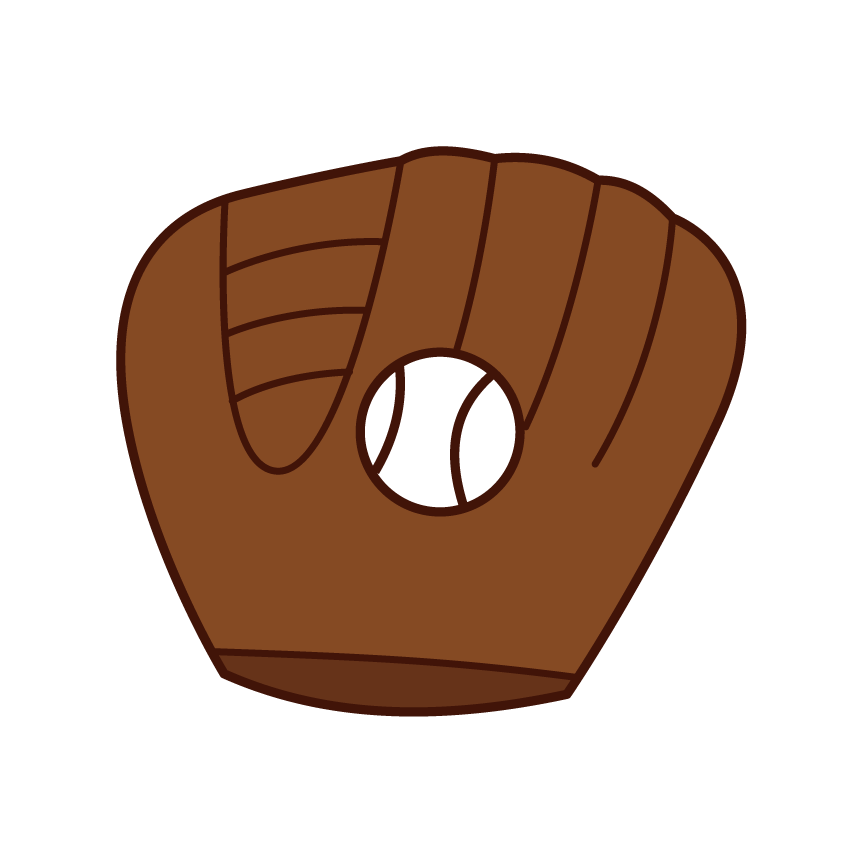 野球のグローブとボールのイラスト