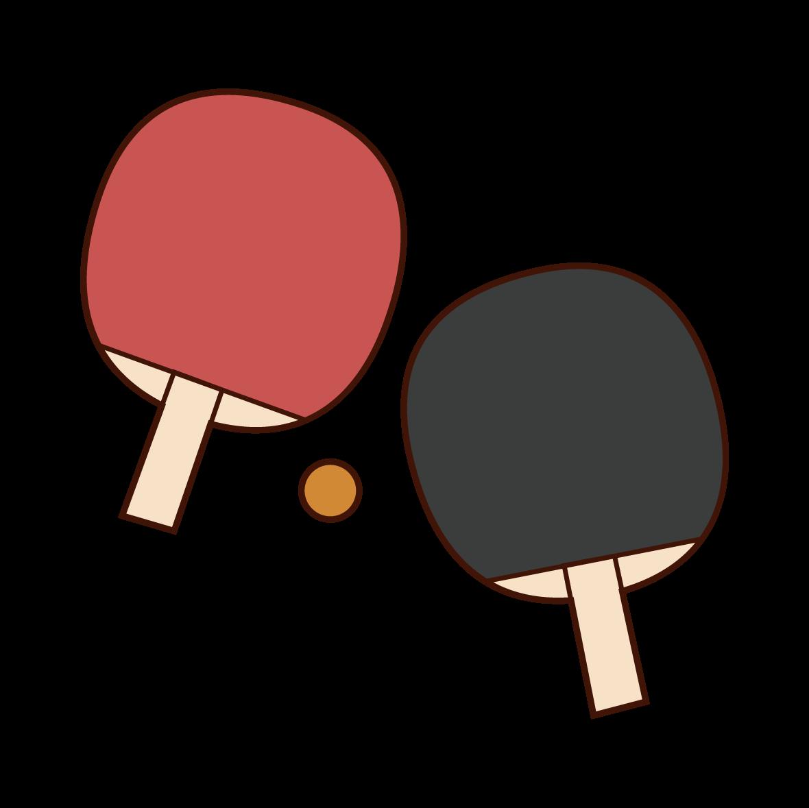 卓球のラケットのイラスト