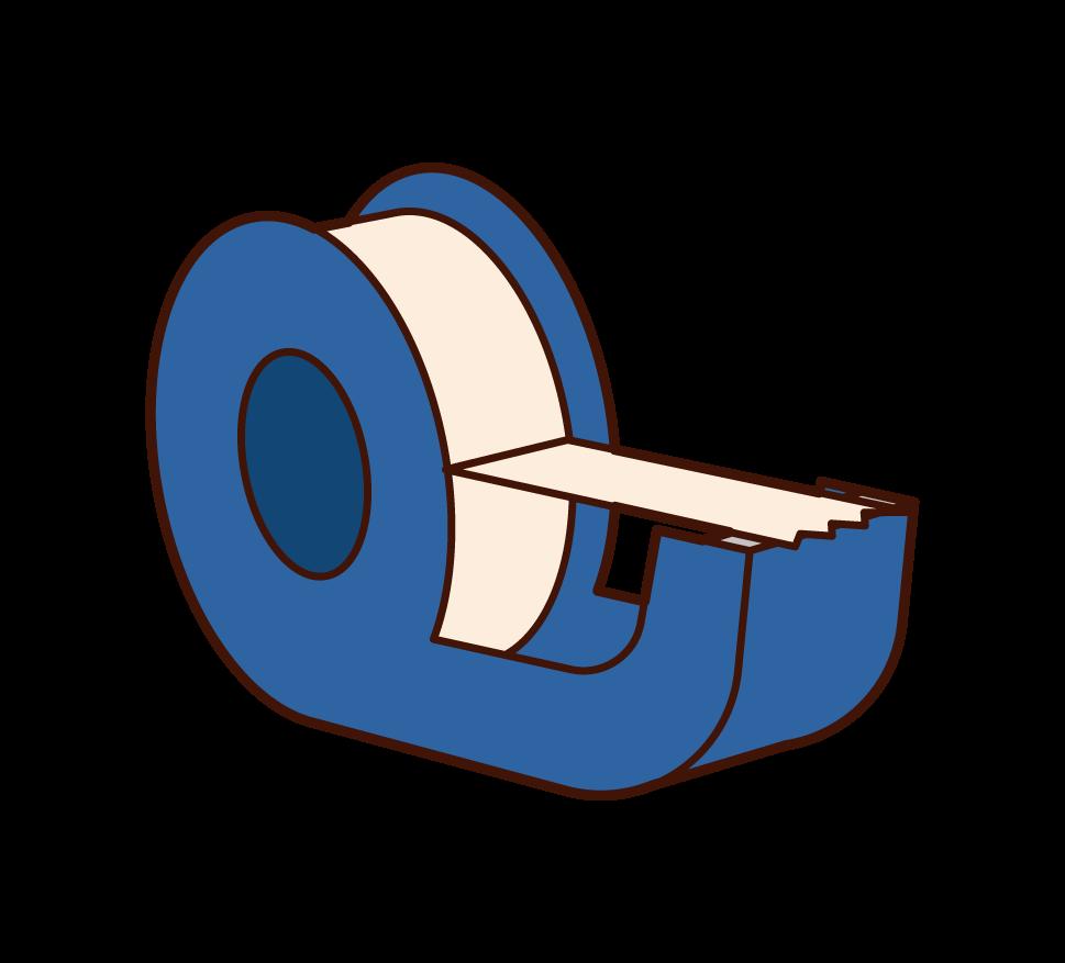 テープカッターのイラスト