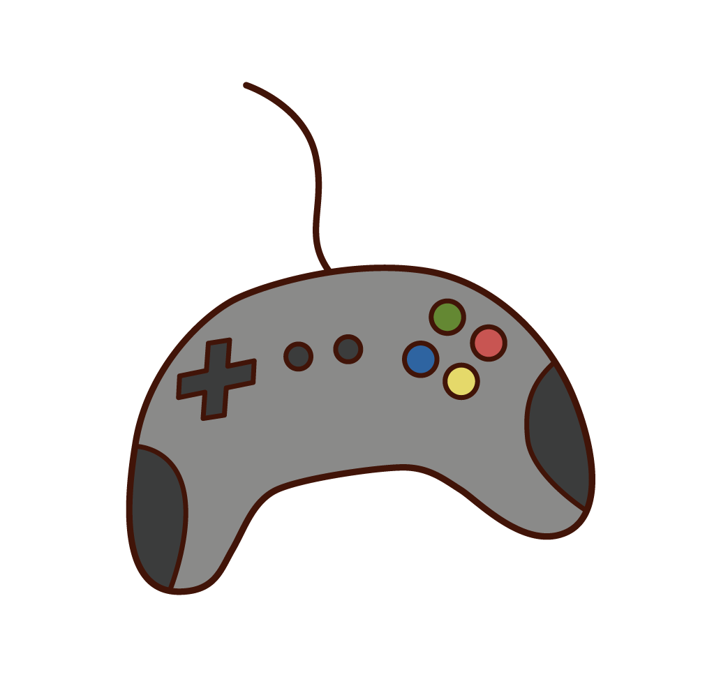 Illustration of a video game controller