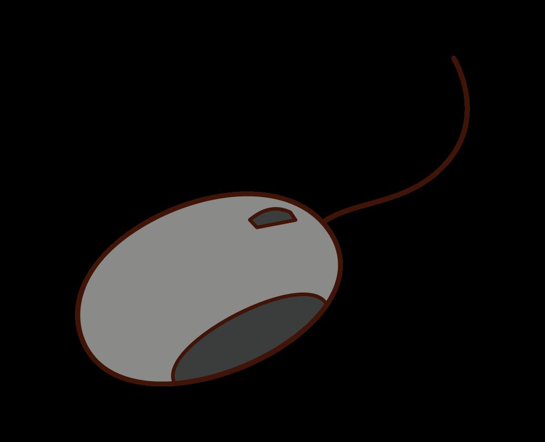 パソコンのマウスのイラスト