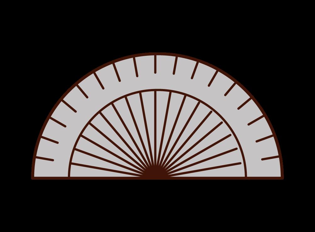 分度器のイラスト