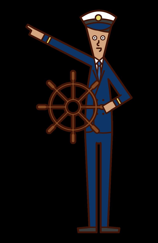 航海士(男性)のイラスト