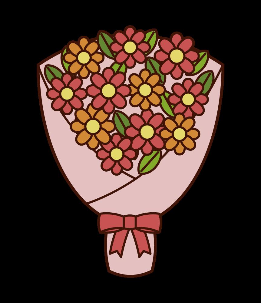 꽃다발의 삽화