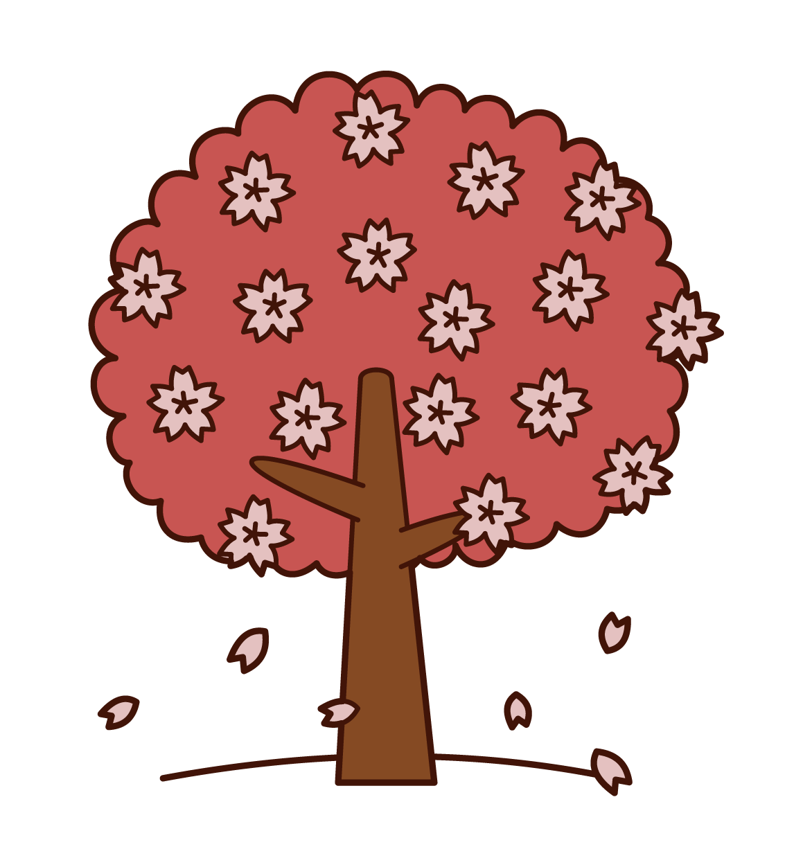 Illustration of cherry tree