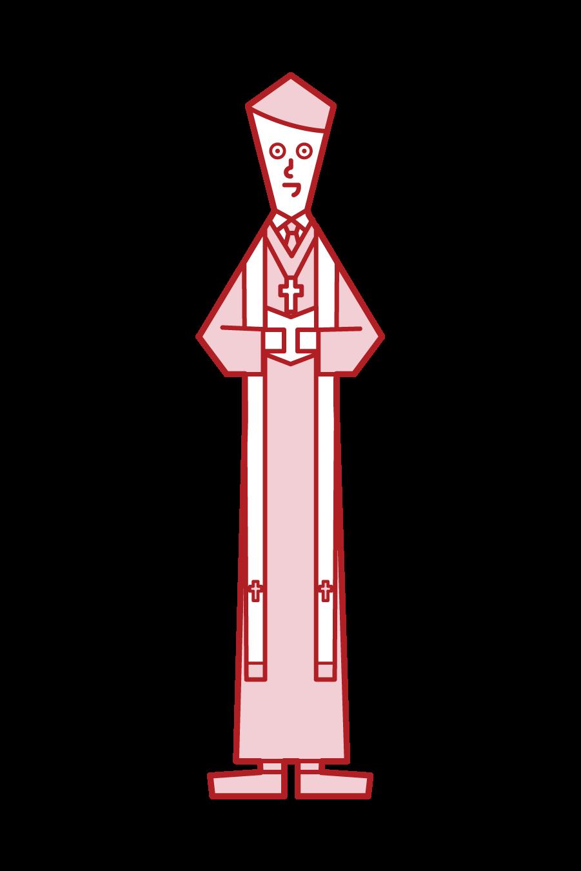 牧師(男性)插圖