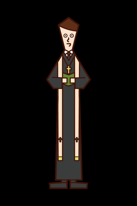 목사의 일러스트 (남성)