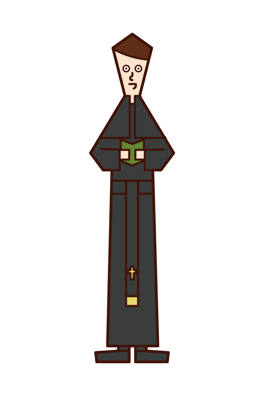 Illustration of a priest (man)
