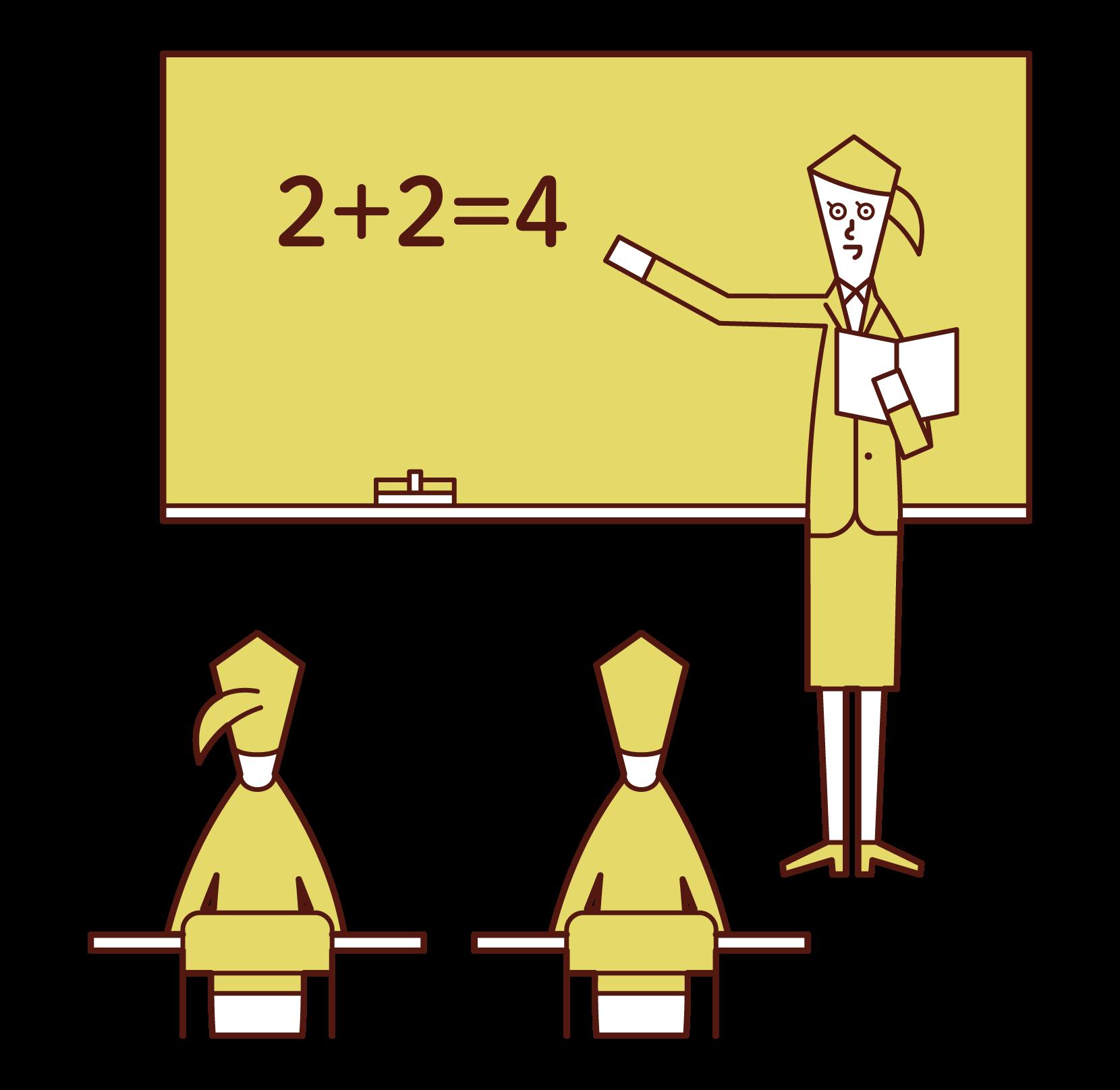 초등학교 교사의 일러스트 (여성)