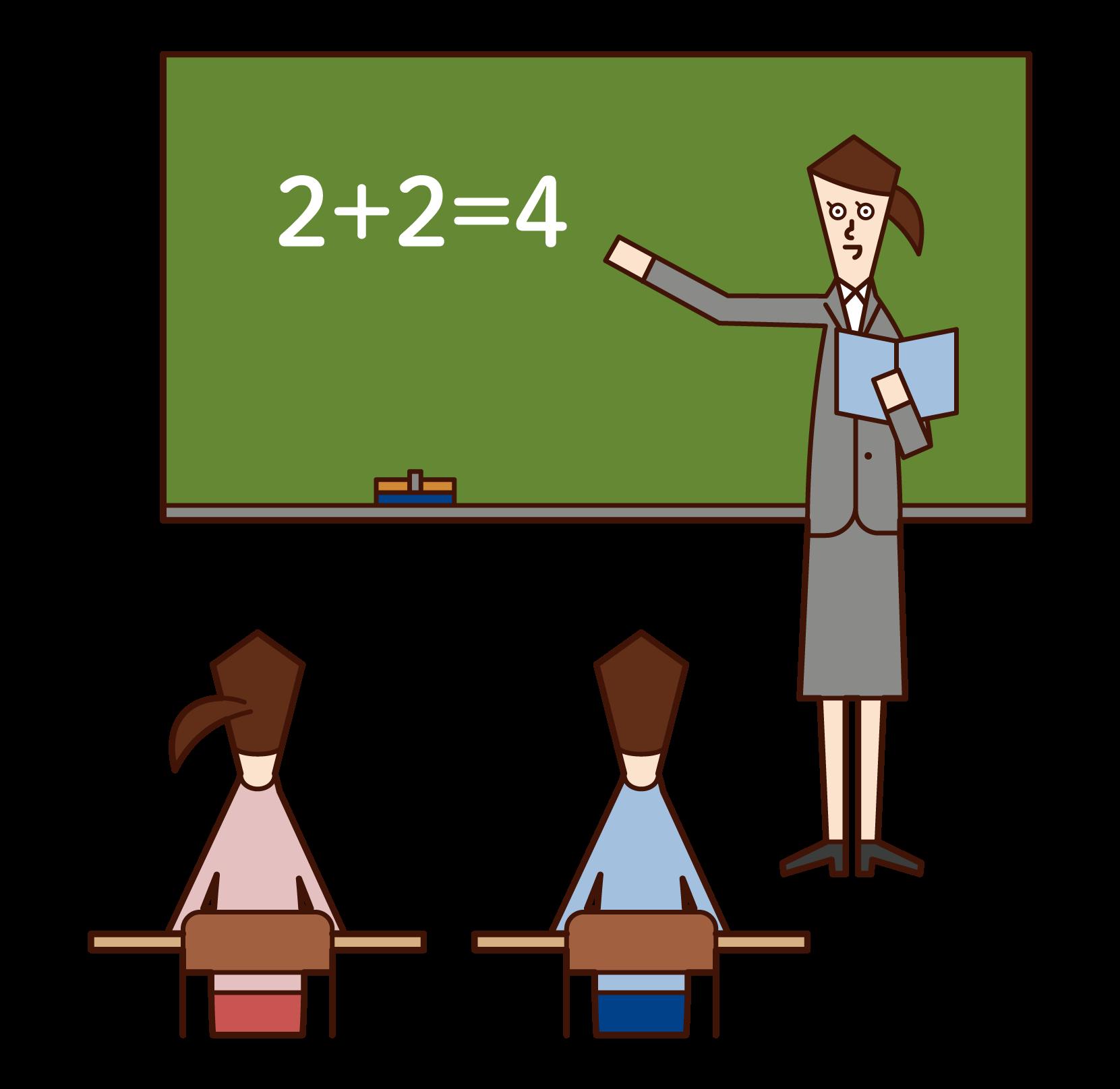 小学校教師(女性)のイラスト