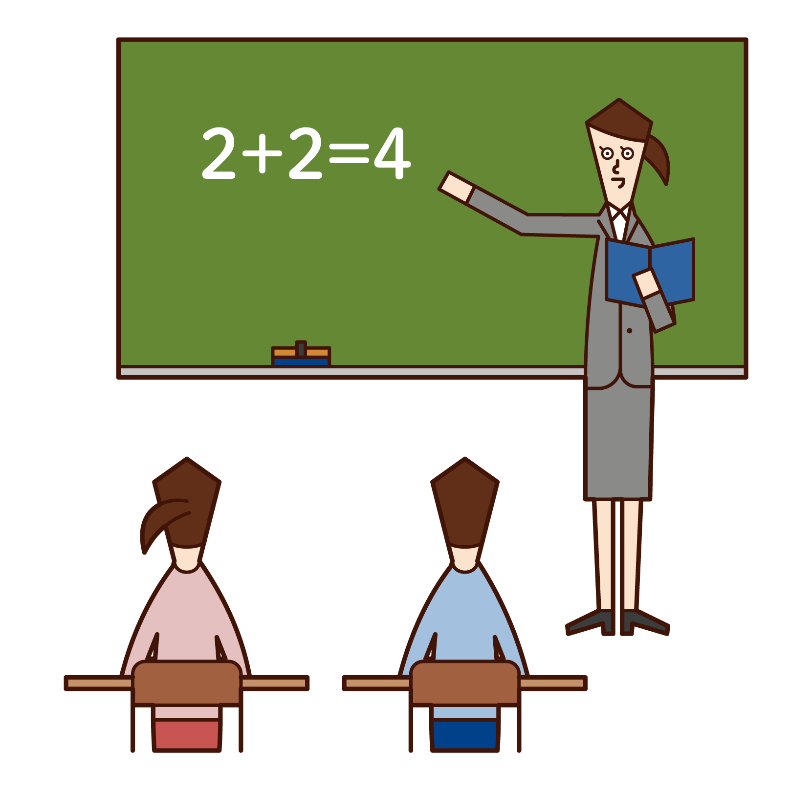 Illustration of an elementary school teacher (woman)
