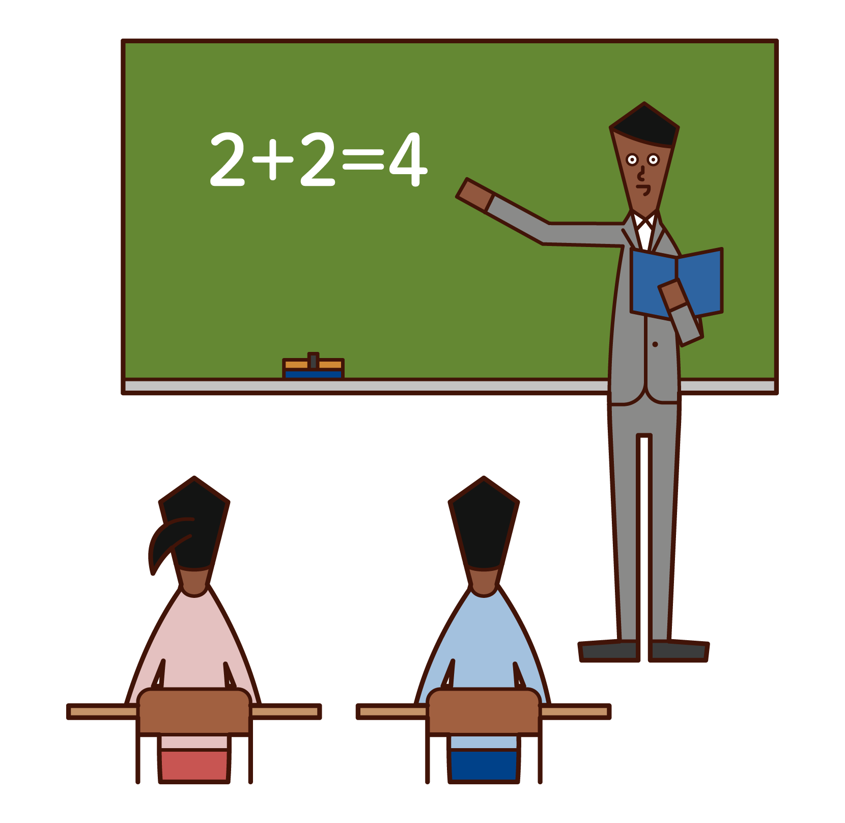 Illustration of an elementary school teacher (man)