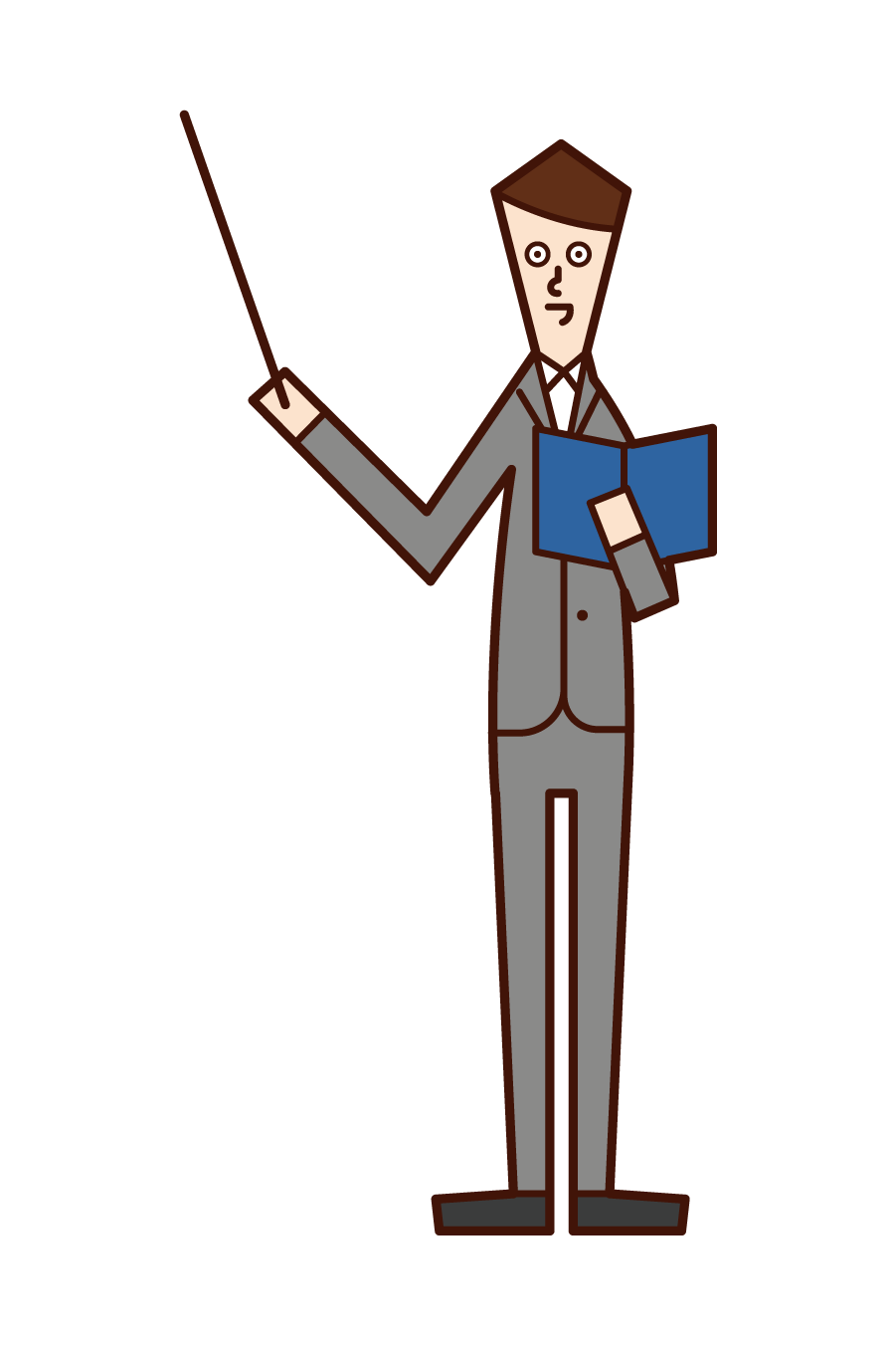 Illustration of a teacher (man)
