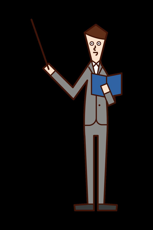 교사의 삽화 (남성)