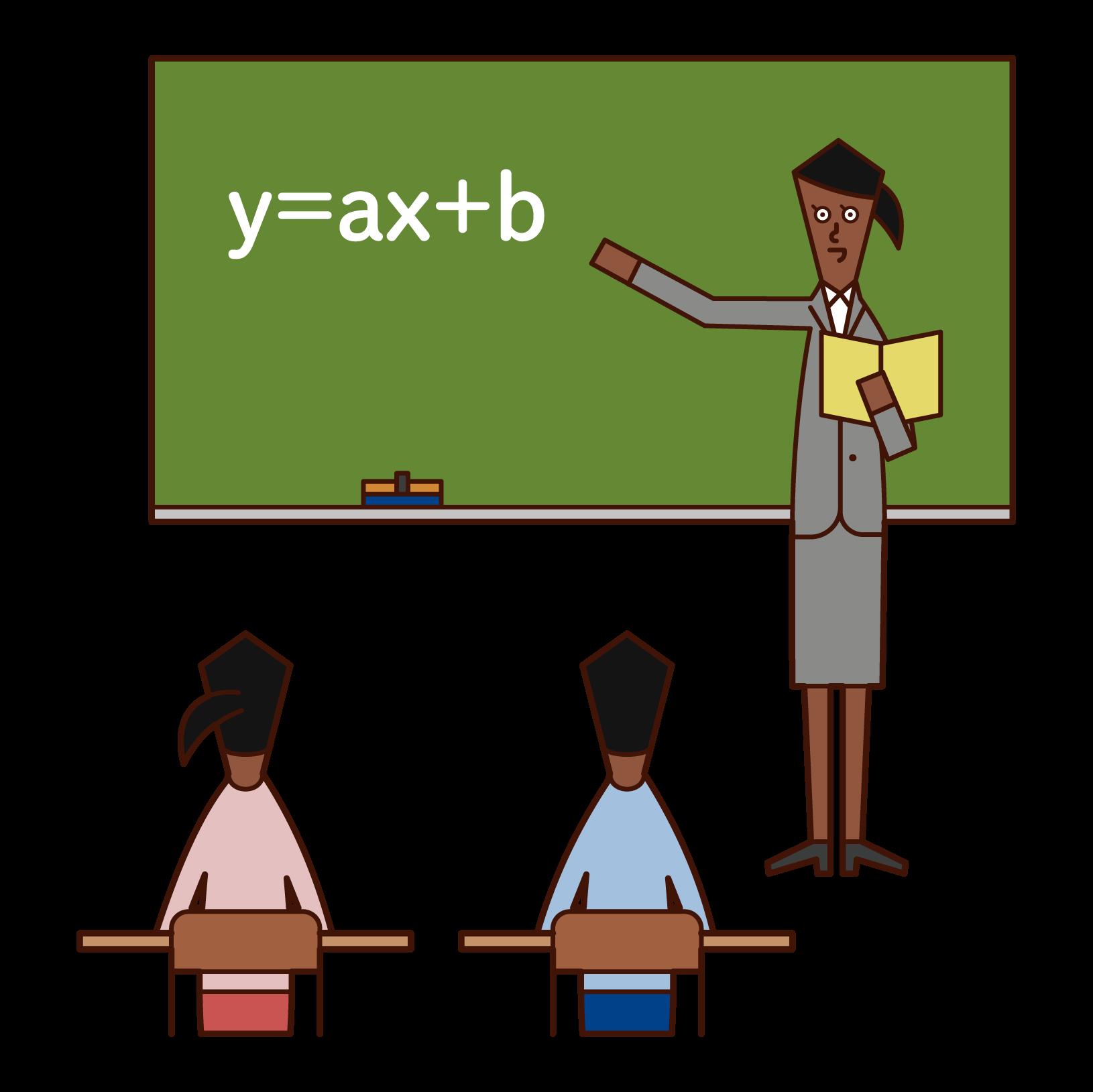 Illustration of a junior high school teacher (woman)