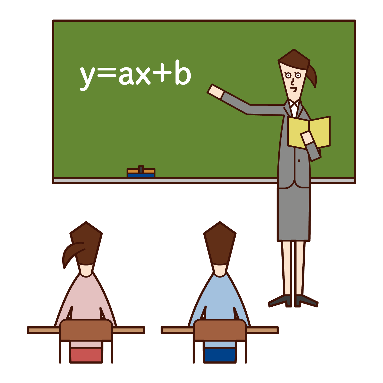 中学校教師(女性)のイラスト