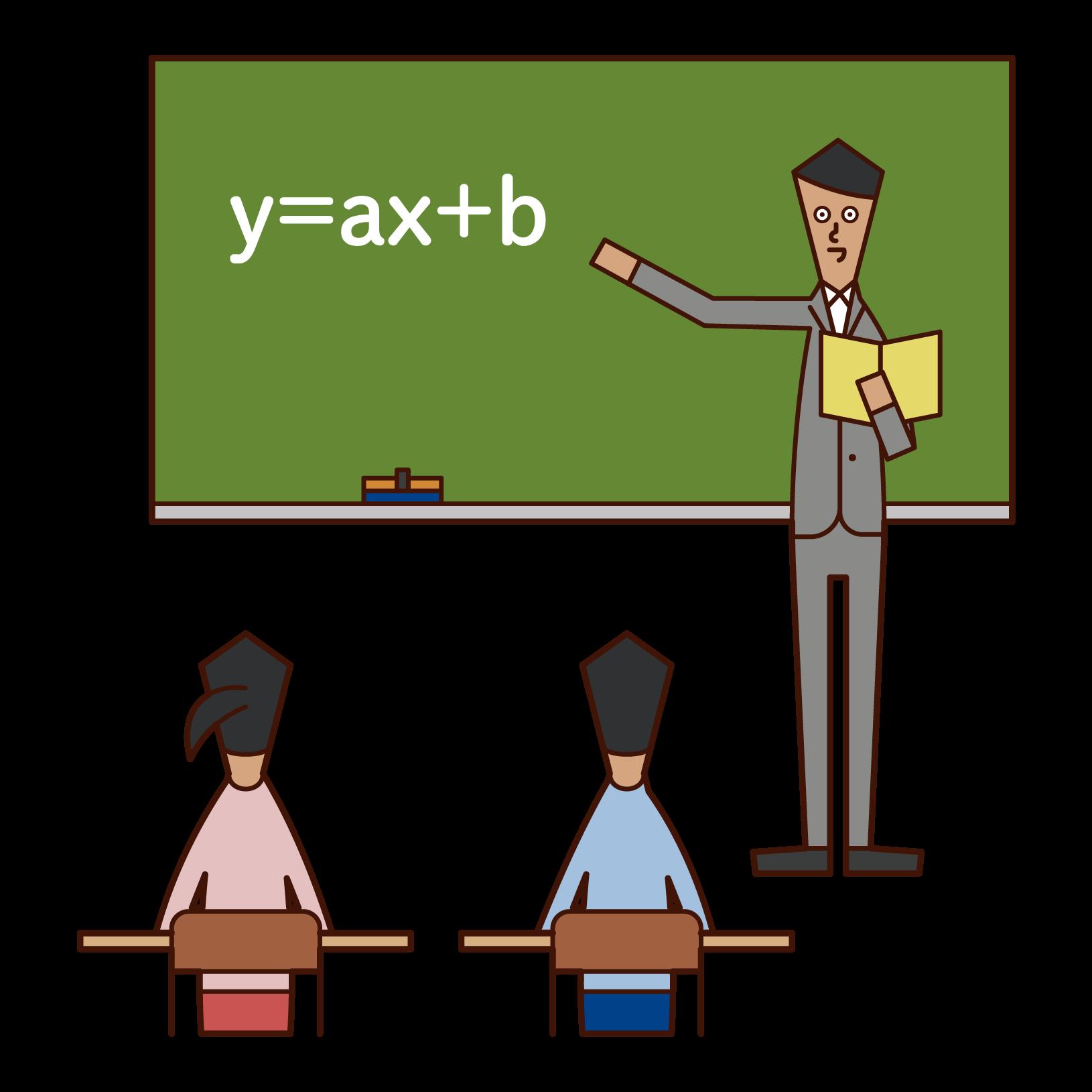 Illustration of a junior high school teacher (man)
