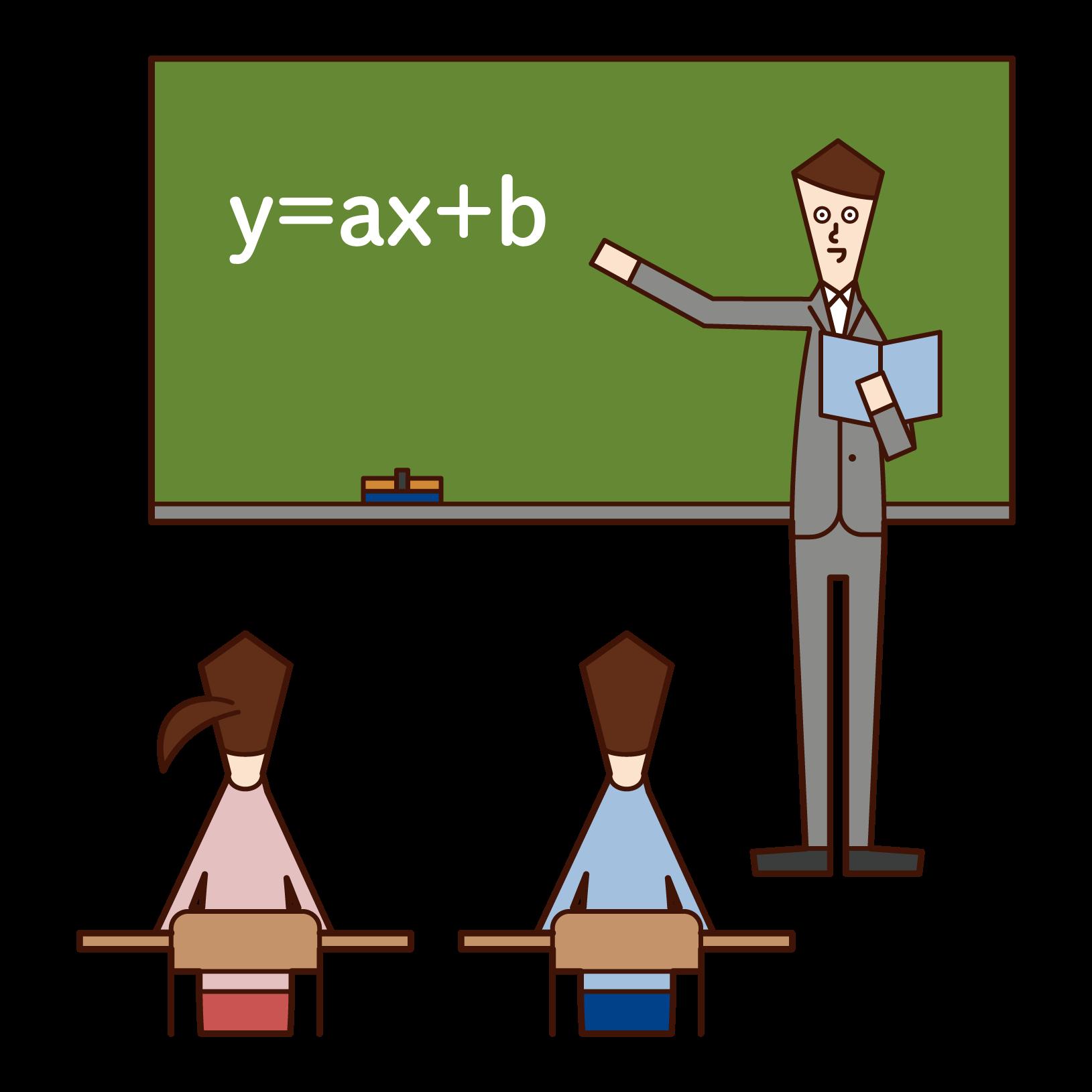 中学校教師(男性)のイラスト