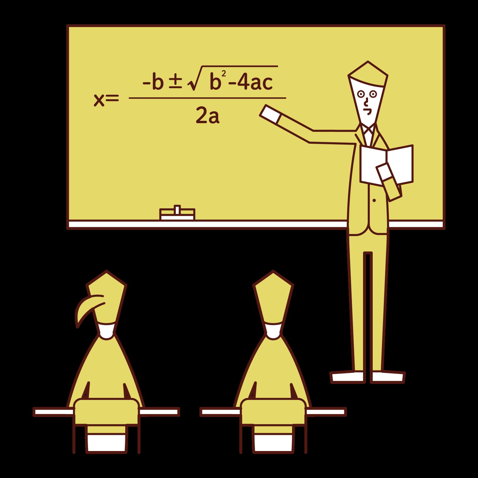Illustration of a high school teacher (man)