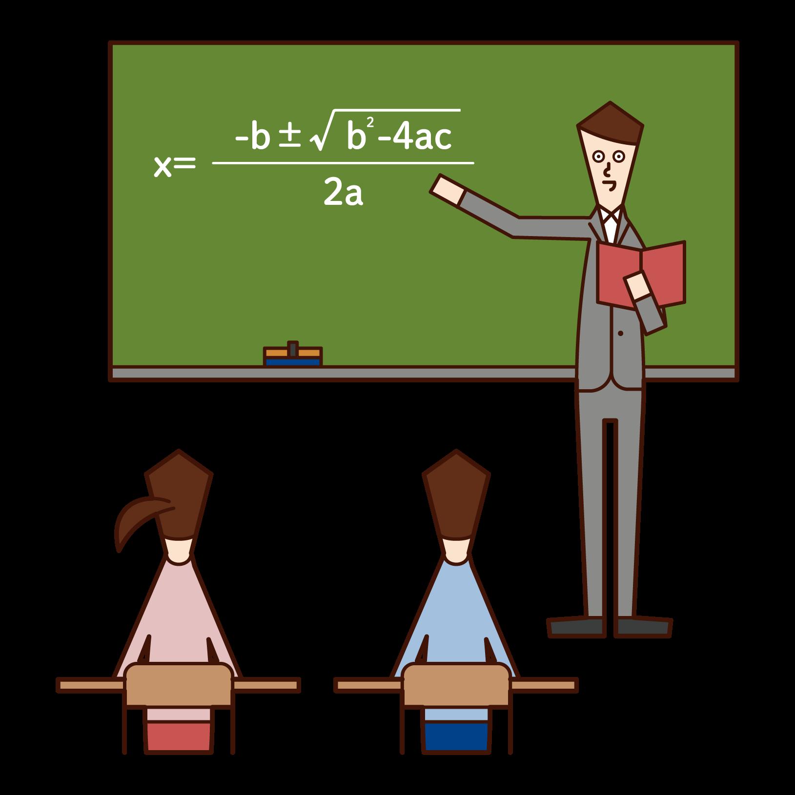 高校教師(男性)のイラスト