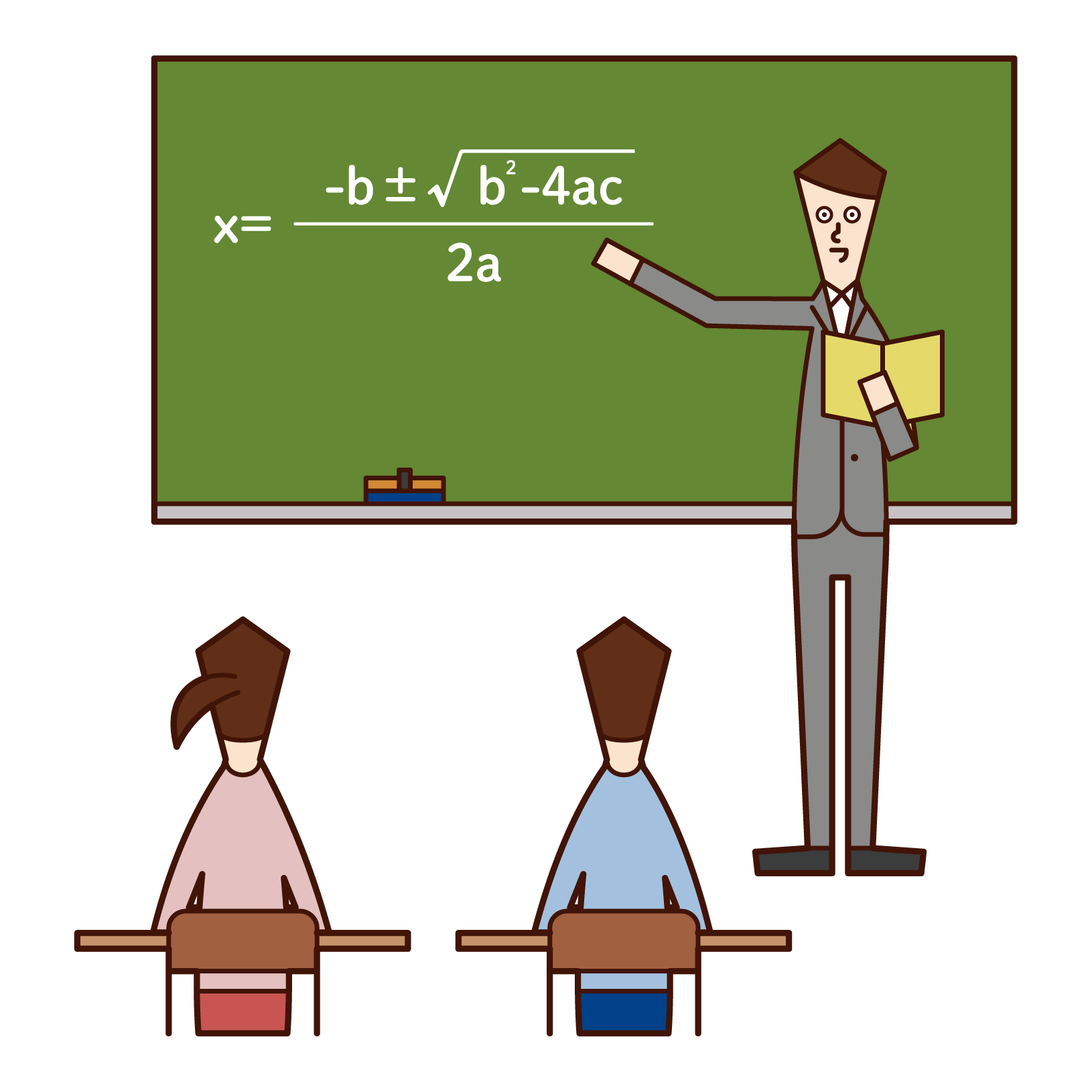 Illustration of a high school teacher (man)
