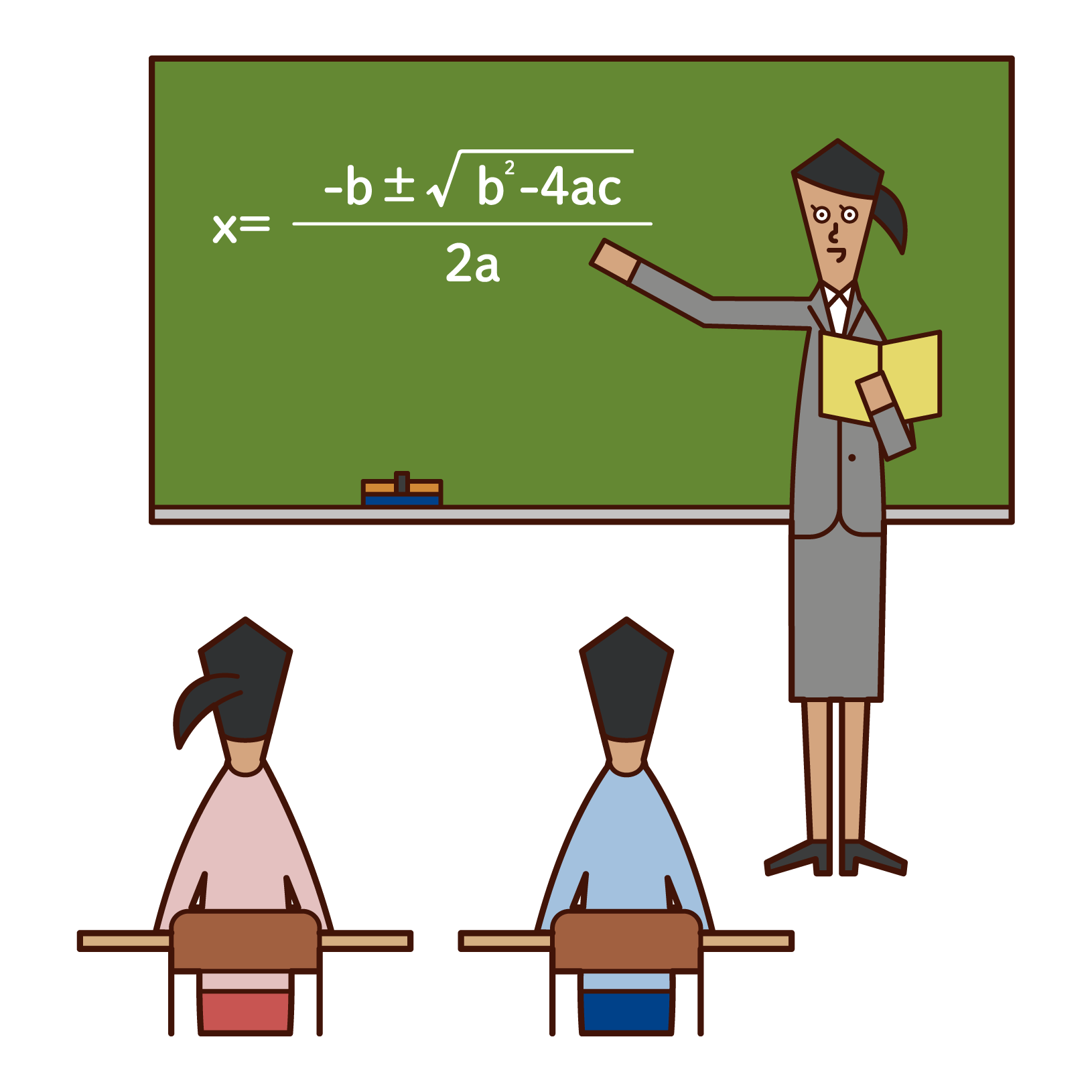 Illustration of a high school teacher (woman)