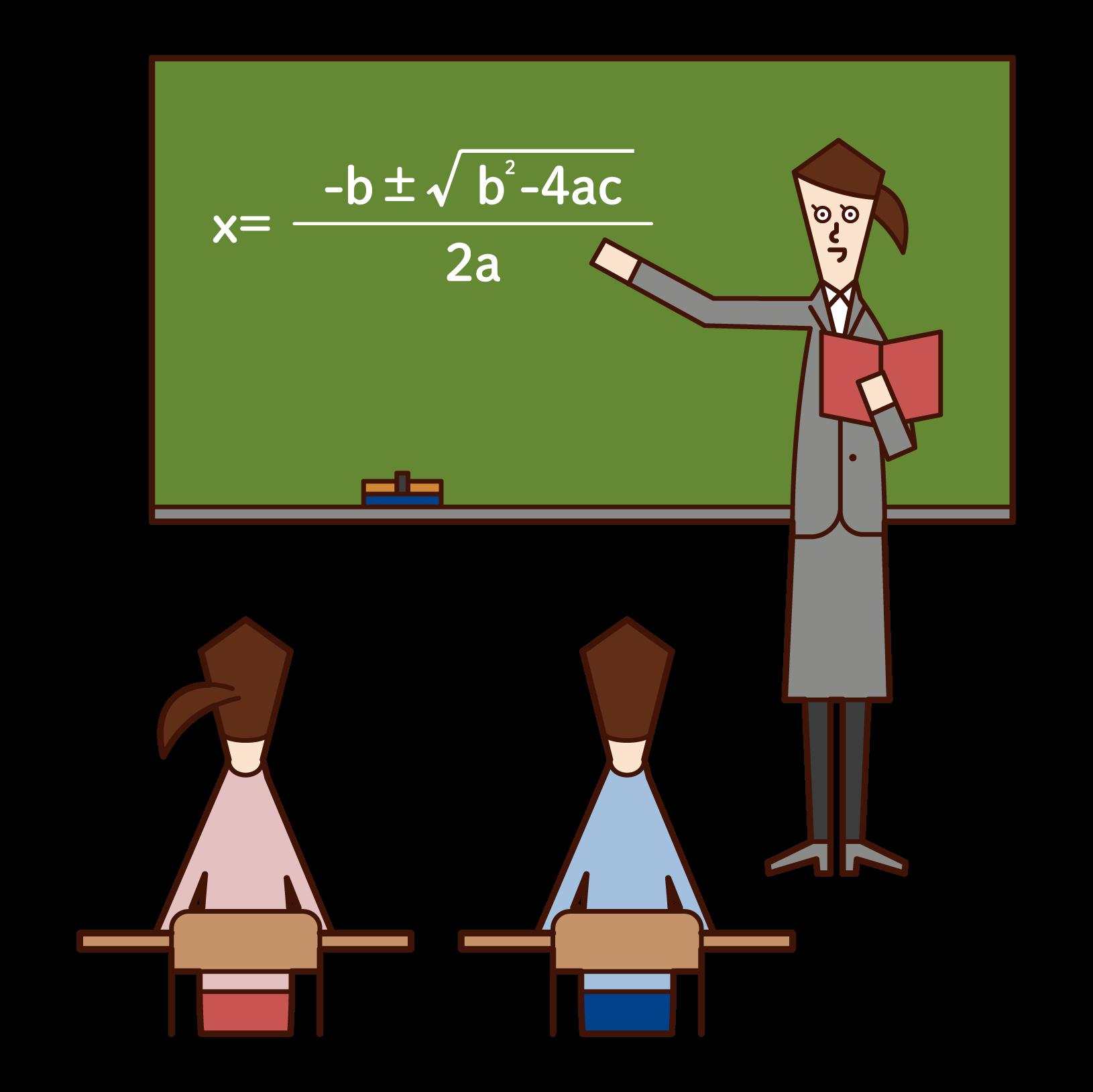 高校教師(女性)のイラスト