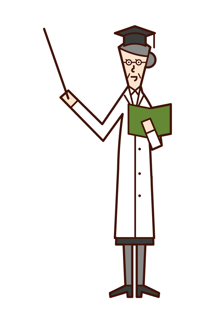 Illustration of a university professor (woman)