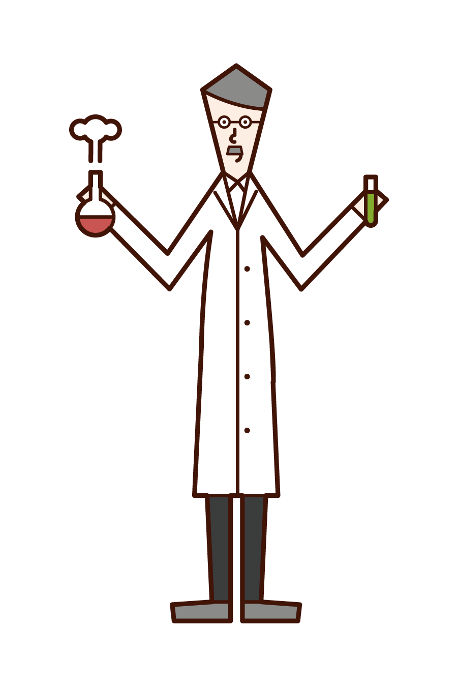 Illustration of a researcher (man)