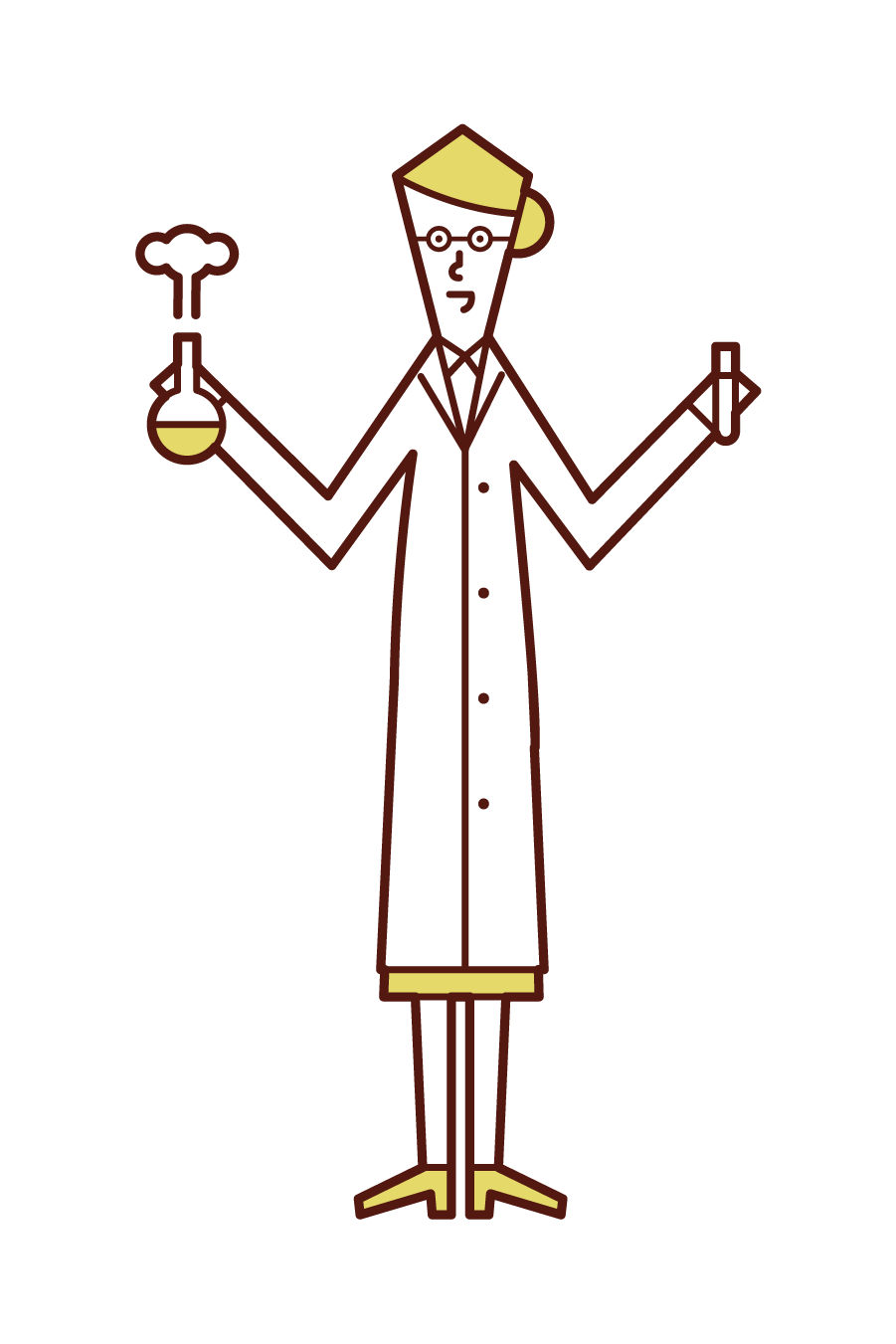 Illustration of a researcher (woman)