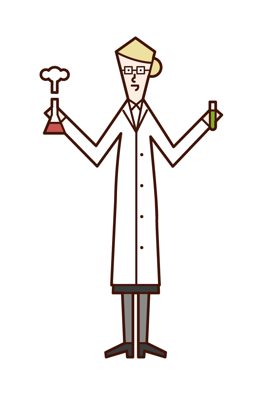 Illustration of a scientist (woman)