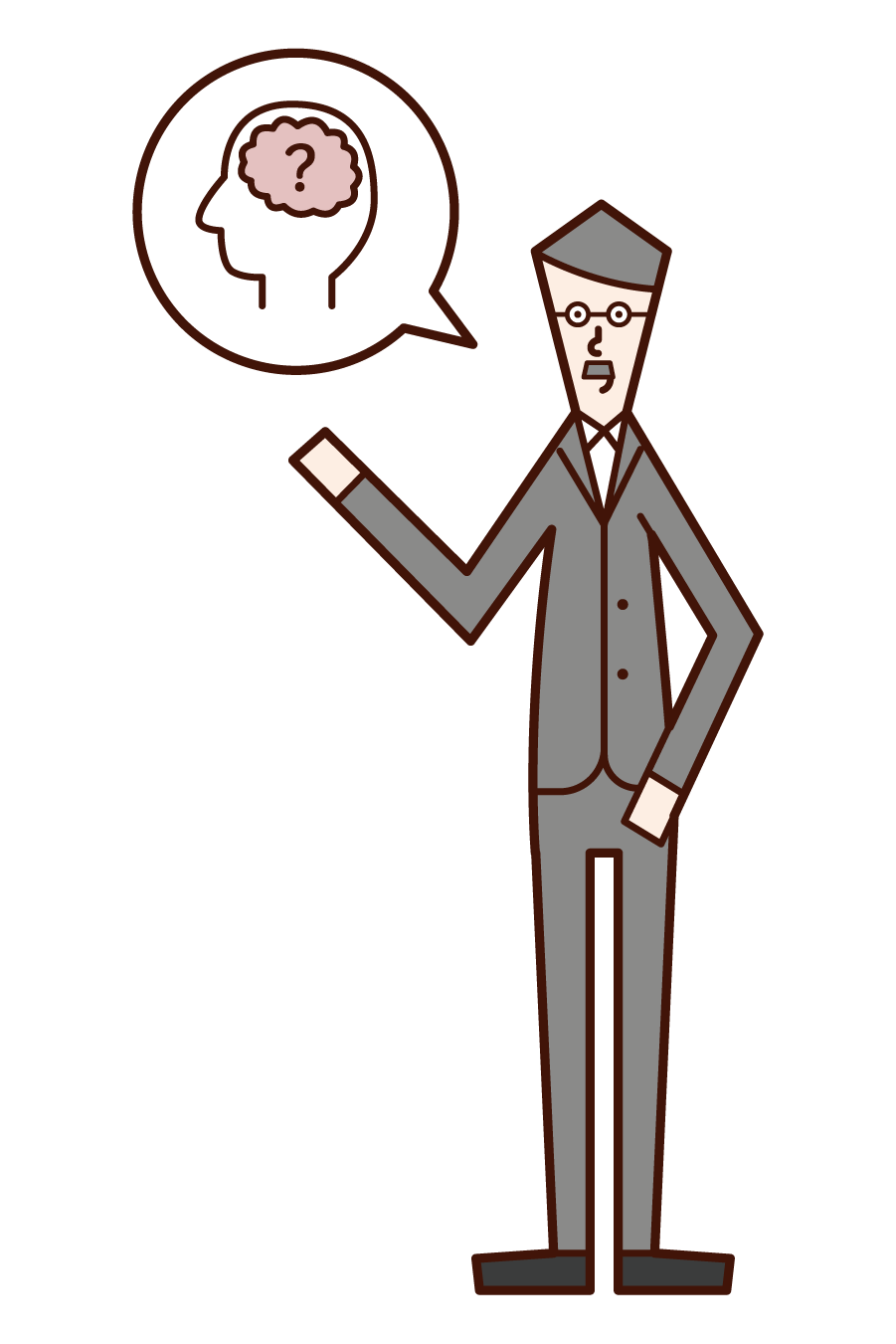 Illustration of a psychologist (man)