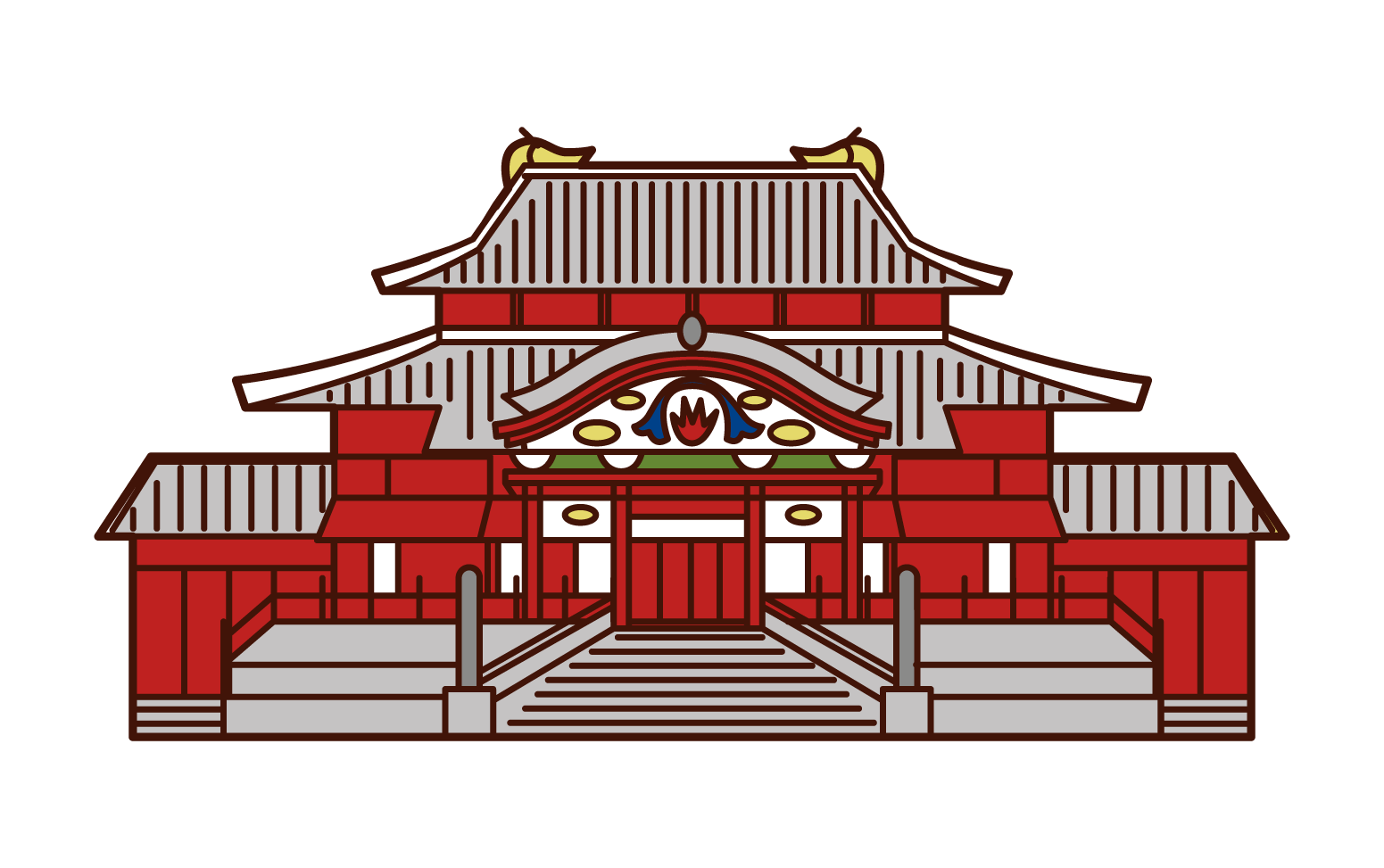 Illustration of Shuri Castle