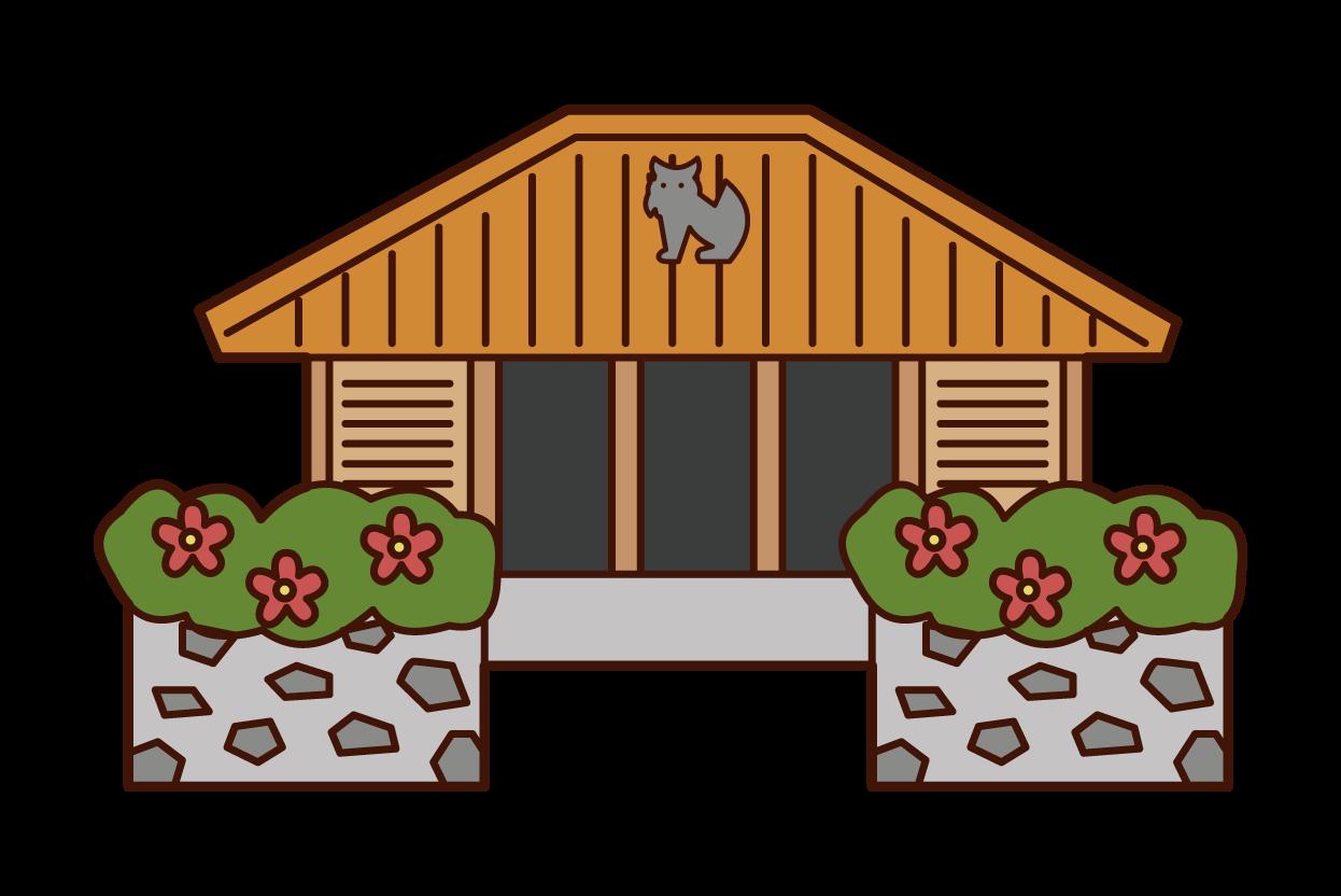 沖縄の家のイラスト