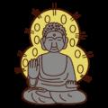 奈良の大仏のイラスト