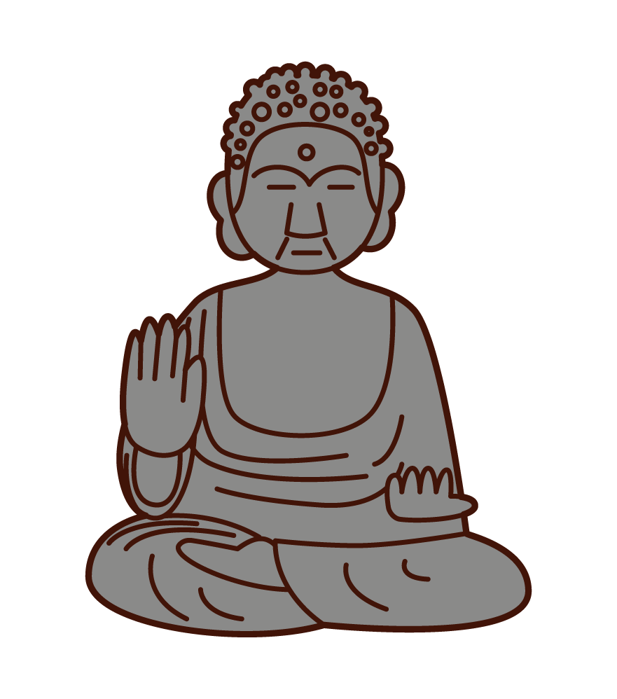 Illustration of the Great Buddha in Nara