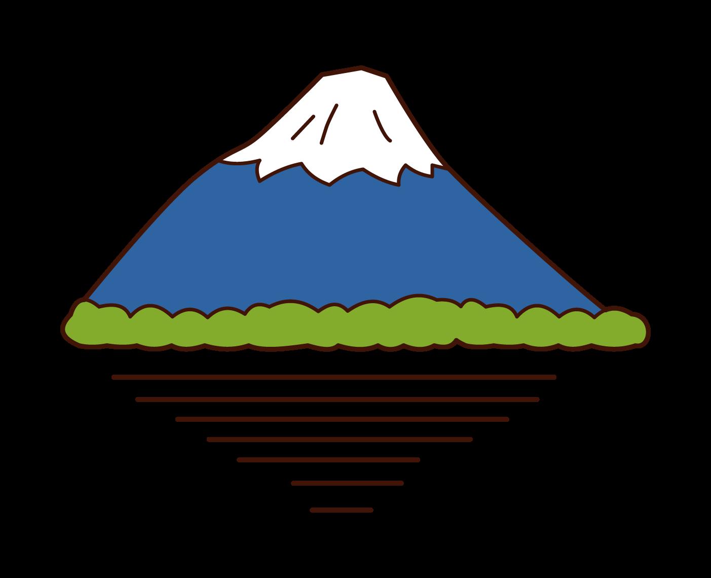 후지산 의 삽화